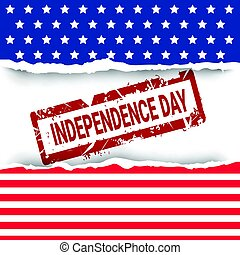 United States Flag Independence Day Holiday 4 July Banner...