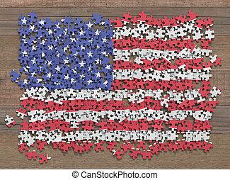 United States Flag Puzzle