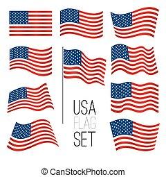 United states flag emojis  patriotic emoji set  united states of
