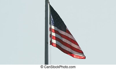 United States Flag. Soft wind.