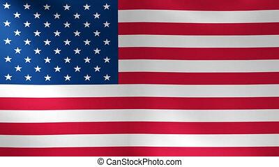 United States Flag USA - American USA Flag swaying on the...