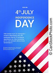 United States Flag With Copy Space Independence Day Holiday 4 July Banner