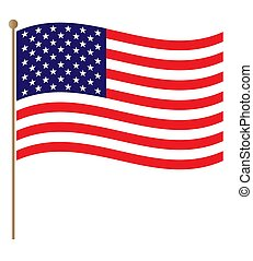 United States flowing flag background