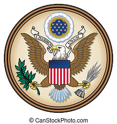 United States Great Seal, coat of arms or national emblem,...