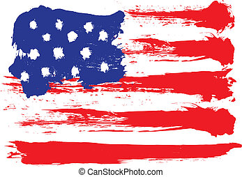 united states, grunge, flag