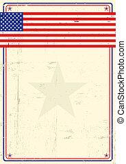 United states grunge poster.