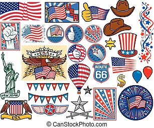 united states, iconerne, sæt