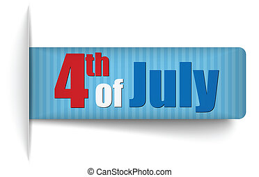 United States Independence Day Tag