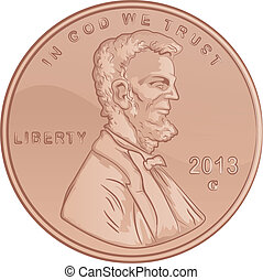 United States Lincoln Penny - Funny Copper Penny...