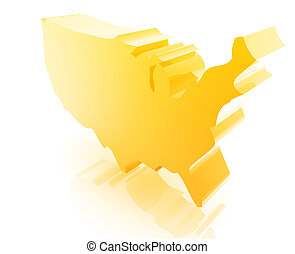 United States map - United States USA illustration glossy...