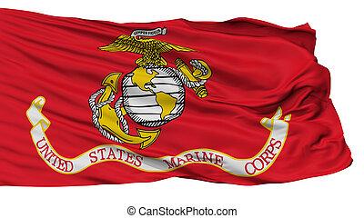 United States Marine Corps Flag, Isolated On White