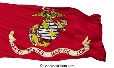 United States Marine Corps Flag Isolated Seamless Loop -...