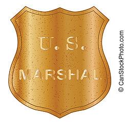United States MArshal Shield Badge