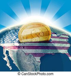 united states, moneybox