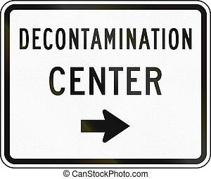 United States MUTCD emergency road sign - Decontamination center