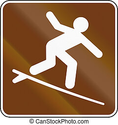 United States MUTCD guide road sign - Surfing.