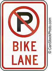 United States MUTCD road sign