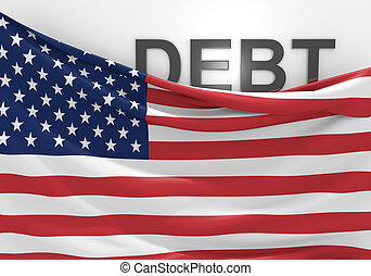 United States national debt and budget deficit financial crisis.