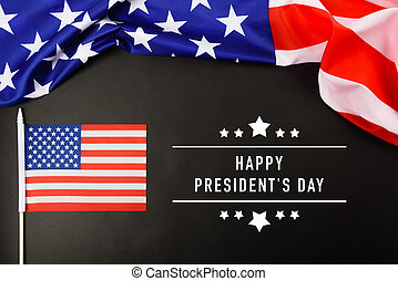 """American or USA Flag with """"HAPPY PRESIDENT'S DAY"""" text"""
