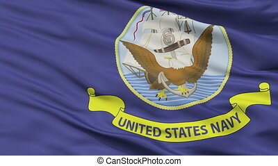 United States Navy Official Specifications Flag Closeup...