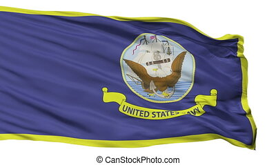 United States Navy Official Specifications Flag Isolated...