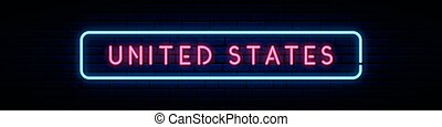 United States neon sign.
