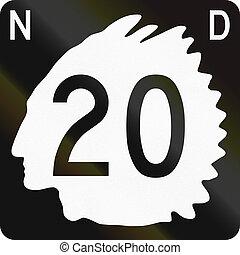 United States North Dakota State Highway shield