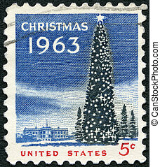 UNITED STATES OF AMERICA - 1963: shows National Christmas Tree a
