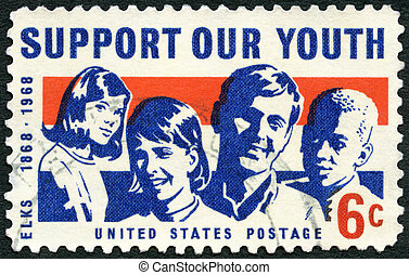 UNITED STATES OF AMERICA - 1968: shows Girls and Boys, dedicated