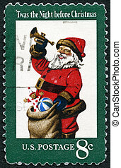 UNITED STATES OF AMERICA - 1972: shows Santa Claus, It was the N