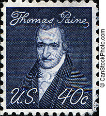 Thomas Paine - UNITED STATES OF AMERICA - CIRCA 1965: A...