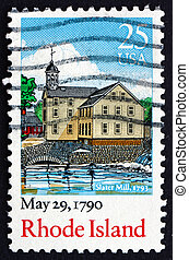 UNITED STATES OF AMERICA - CIRCA 1990: a stamp printed in ...
