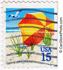 UNITED STATES OF AMERICA - CIRCA 1998 : stamp printed in the...