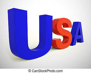 United States of America concept icon depicting the USA - 3d illustration