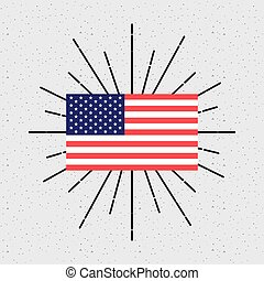 usa country flag over white background. colorful design. vector illustration