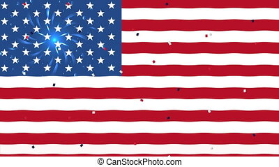 united states of america flag background ,4k video animated