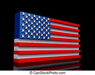 United States of America Flag Dark BG - United States of ...