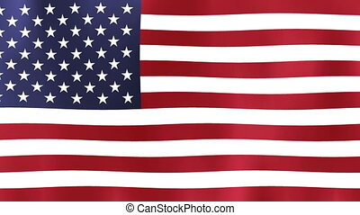 United States of America flag Motion video waving in wind. Flag Closeup 1080p Full HD 1920X1080 footage