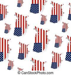 United States of America flag pattern. Modern flag of USA on white background vector illustration