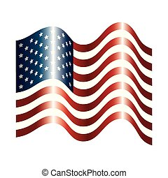united states of america flag with waves
