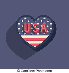 united states of america icon vector isolated graphic