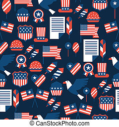 United States of America Independence Day seamless pattern.