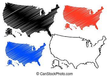 United States of America map vector