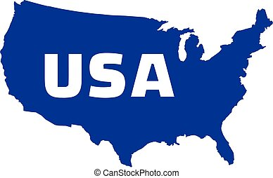 United States of America map with name