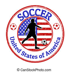 United States of America soccer stamp