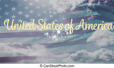 United States of America text and flag