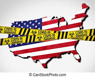 United States of America under quarantine