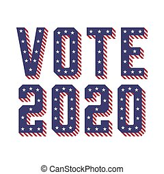 United States of America (USA) Elections VOTE 2020 with Stars and Stripes Concept Vector Illustration