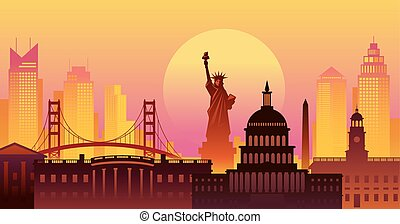 United States of America, USA, Landmarks, Urban Skyline