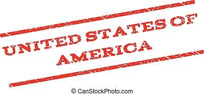 United States Of America Watermark Stamp
